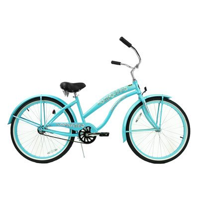 Women's Single Speed Premium Beach Cruiser Frame Color: Baby Blue