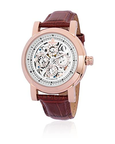 Burgmeister Reloj automático Alexandria BM129-385 Marrón 42  mm