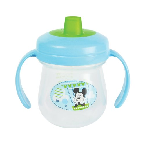 The First Years Baby Mickey Mouse Soft Spout Trainer Cup with Handles - 7 oz, 1 pack - 1