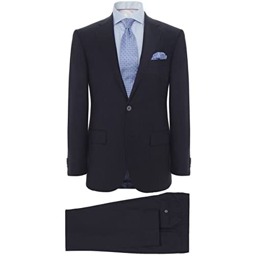 Corneliani Wool Striped Two Piece Suit Navy