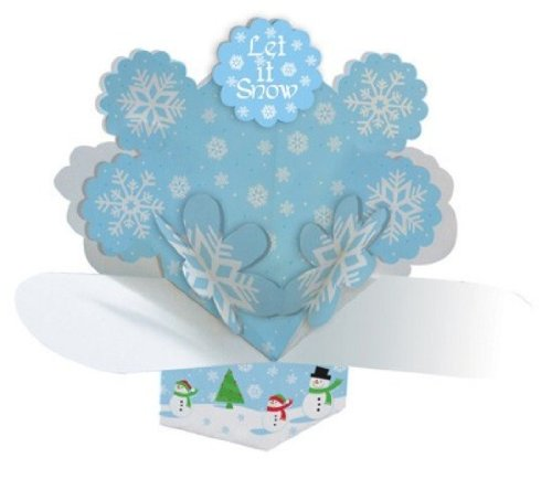 Creative Converting Dimensional Pop-Out Style Snowman Scene Centerpiece - 1
