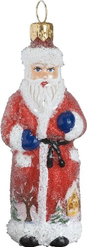 Ino Schaller Blown Glass Mini Red Robed Russian Santa Ornament by Joy To The World Collectibles