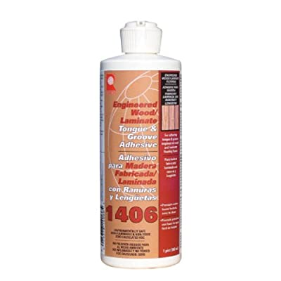 QEP 1406-P Tongue and Groove Adhesive For Laminate and Wood Floors, 1 Pint Bottle