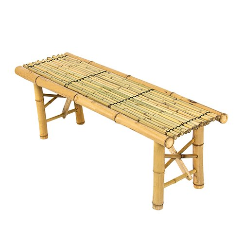Best choice products bamboo bench tiki tropical coffee table bench patio room bar outdoor new Patio coffee tables