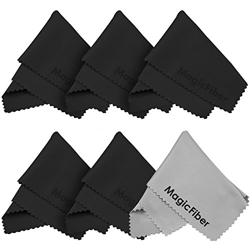 (6 Pack) The Amazing Magicfiber® - Premium Microfiber Cleaning Cloths - For Screens, Lenses, Glasses, Ipad, Galaxy Tab, Sony, Nexus, Chromo, Surface Tablet, Iphone, Samsung, Htc, Lg Cell Phone, Laptop, Lcd Tv Screens And Any Other Delicate Surface (5 Blac