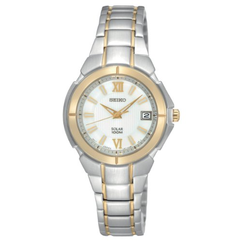 Seiko Women's SUT022 Two-Tone Stainless-Steel Quartz Watch with Silver Dial
