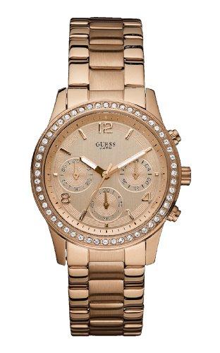 Orologio GUESS Donna Acciaio, IP Rosa Cronografo - w0122l3