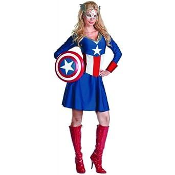 Amazon.com: Women's Captain America Costume: Adult: Clothing