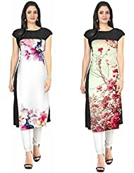 Sky Global Women's Regular Wear Kurti (Combo Pack Of 2)(SKY_KC_6020)(Sky_Kurti_7030_Multi Colour_Free Size)(Sky_Kurti...