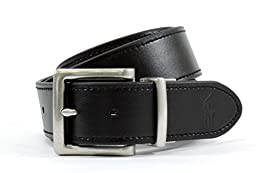 Polo by Ralph Lauren Black & Brown Leather Reversible Belt Size 34