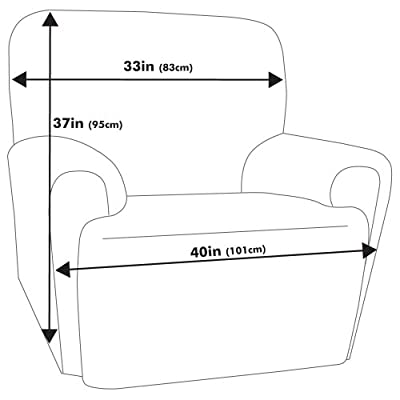 Maytex Collin Stretch 4-Piece Slipcover Recliner