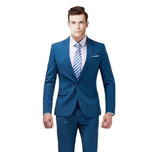 MYS-Pantaloni Tuta Notch personalizzata Classic Cravatta Set Blu Royal Blue Su Misura