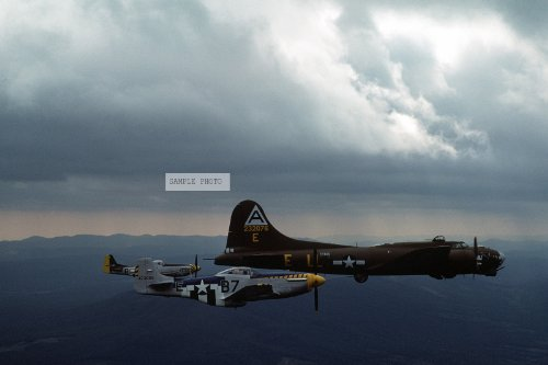 Photo A right side view of the restored B-17G Flying Fortress aircraft