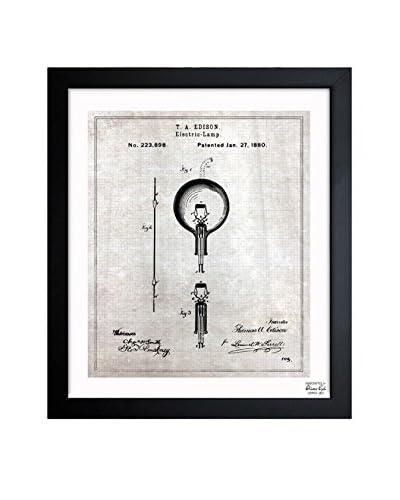 Oliver Gal Edison Electric Lamp 1880 Framed Art