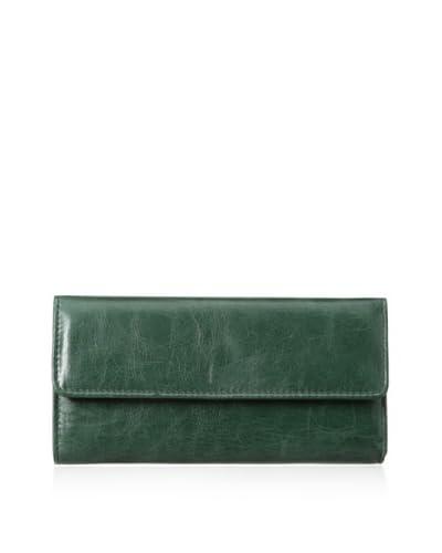 Rowallan of Scotland Women's Violetta Tri-Fold Wallet, Bottle Green