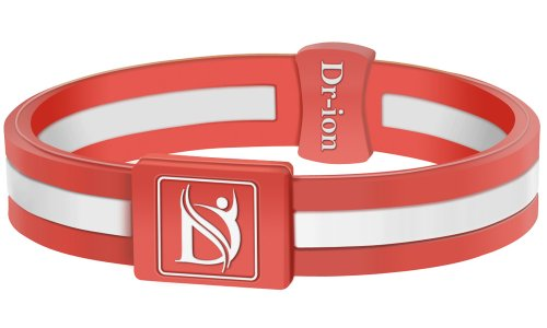 Negative Ion Health Wristband (Orange/White)