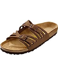Birkenstock Sandals ''Granada'' from Leather in Cocoa with a narrow insole by Birkenstock