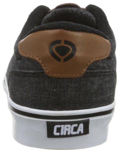 C1RCA Men's Lamb Fashion Sneaker,Black/Black Denim,10 M US