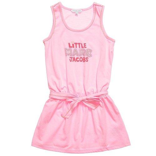 Little Marc Jacobs Lmj Logo Tank Dress In Rose Love-2