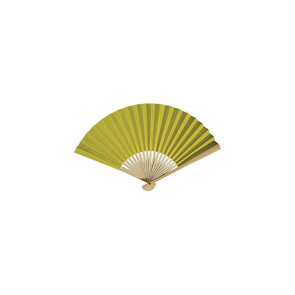 Chartreuse Green Paper Hand Fan