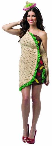[Rasta Imposta Women's Foodies Taco Dress, Multi, One Size] (Taco Adult Costumes)