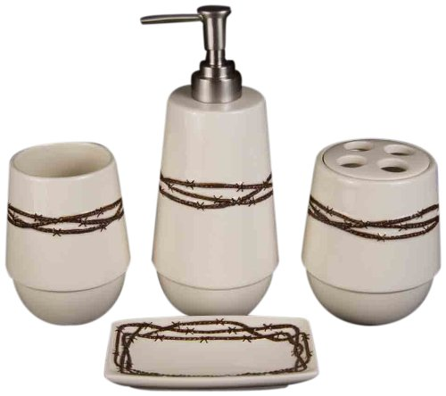 Hiend Accents Barbwire Bathroom Set
