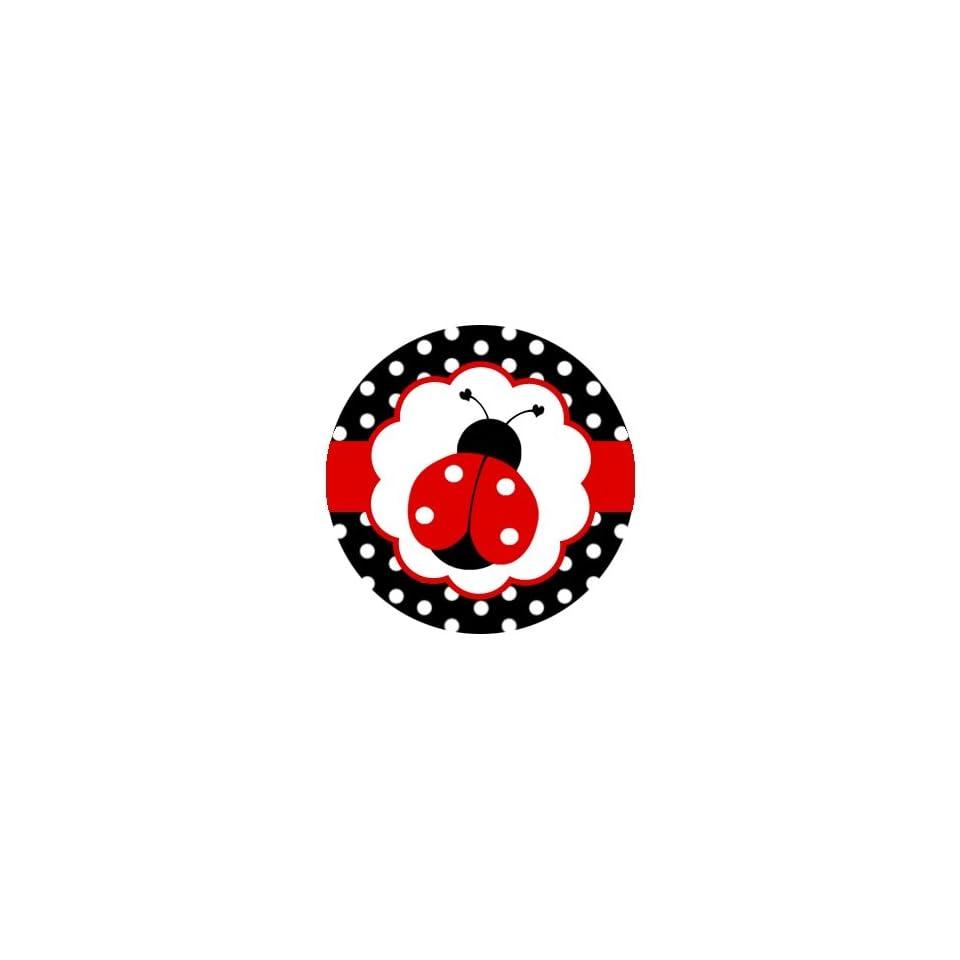 Ladybugs Polka Dots Edible Cupcake Toppers Decoration Kitchen, Dining & Bar