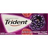 Trident Black Raspberry Twist Gum, 18 Count (Pack of 12)