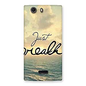 Just Breath Back Case Cover for Canvas Nitro 2 E311