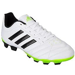 Adidas Boy\'s Goletto V Firm Ground Football Boot White US5