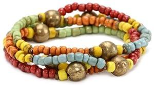 Avindy Jewelry Multi Colored Glass Bead Magnet Wrap Bracelet