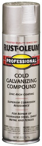 Rust-Oleum 7585838 Professional Cold Galvanizing Compound Spray Paint, 20-Ounce