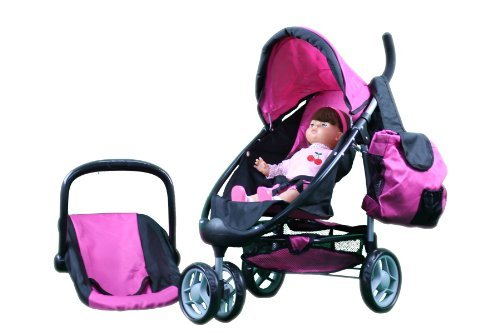 Mommy & Me 2 in 1 Doll Stroller / Carrier with FREE Carriage Bag - 9665A