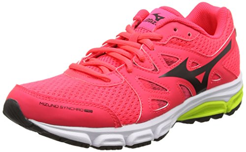 Mizuno Synchro Md, Scarpe Running Donna, Rosa (Diva Pink/Black/Safety Yellow), 38.5