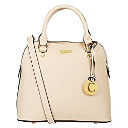 Cathy London Women's Handbag, Material- Synthetic Leather, Colour- Beige