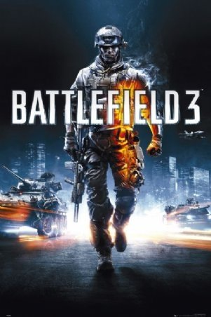 Battlefield 3 Video Game Poster Print - 22x34