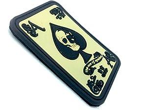 Ace Of Spades 'As De Pique' PVC Biker Airsoft Velcro Patch