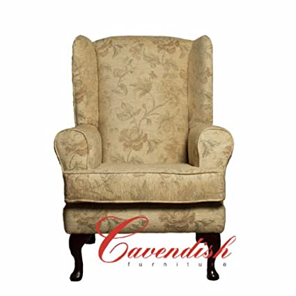 "LUXURY ORTHOPEDIC HIGH SEAT CHAIR in CREAM FLORAL FABRIC 21"" Seat Height"