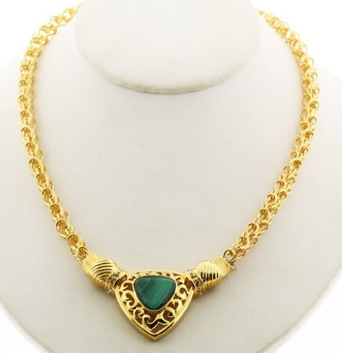 JACKIE KENNEDY MALACHITE NECKLACE Camrose & Kross