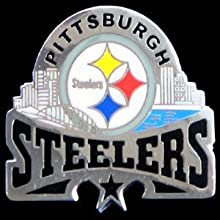 Pittsburgh Steelers Glossy NFL Team Pin by Siskiyo Gifts