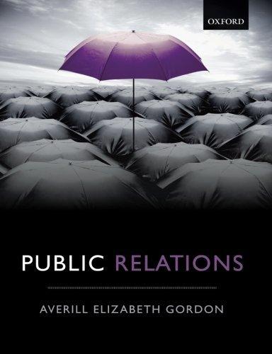 Public Relations, by Averill Elizabeth Gordon