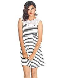 Young Trendz Stripe Lace Dress