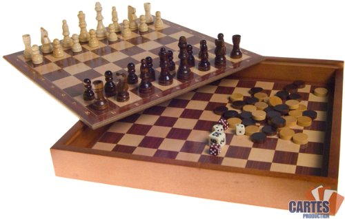 Coffret de jeux Echecs/Backgammon/Dames