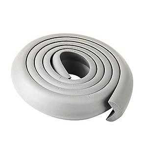 VivReal® Protector Para Esquina Bordas de Mesa Mueble Antigolpes Caucho Forma L Para Bebé Niños Seguridad 200x 3.5x 1cm Gris - BebeHogar.com