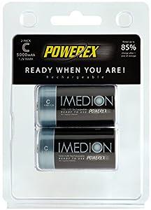 Powerex MHRCI2 Imedion C 5000mAh 2-Pack Rechargeable Batteries