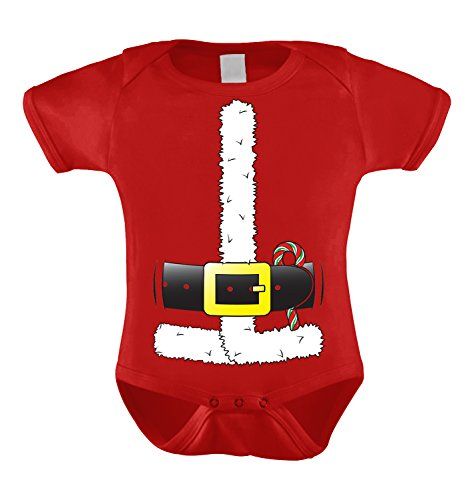 [Santa Claus Costume Infant Bodysuit (Red, 18 Months)] (Reindeer Infant Costumes)