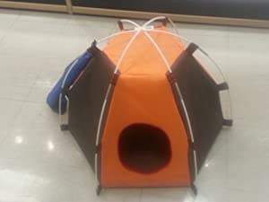 "Nylon Dog Cat Pet Hexagon Tent (25 x 25"" x 18"")"""