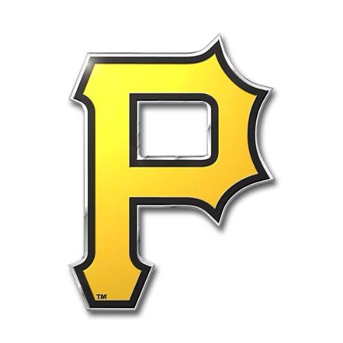 Pittsburgh Pirates Die-Cut Aluminum Metal Auto Emblem