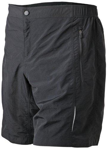 Herren Sport Shorts Bike Shorts schwarz  black  Large