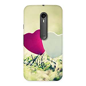Gorgeous Couple Heart Back Case Cover for Moto G3